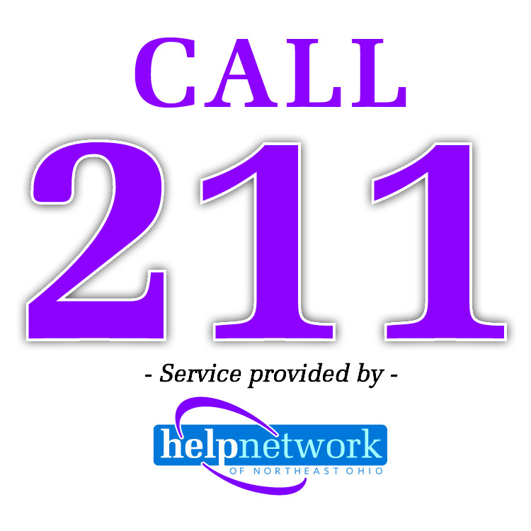 Call 211 - Service provided by Help Network - helpnetworkneo.org