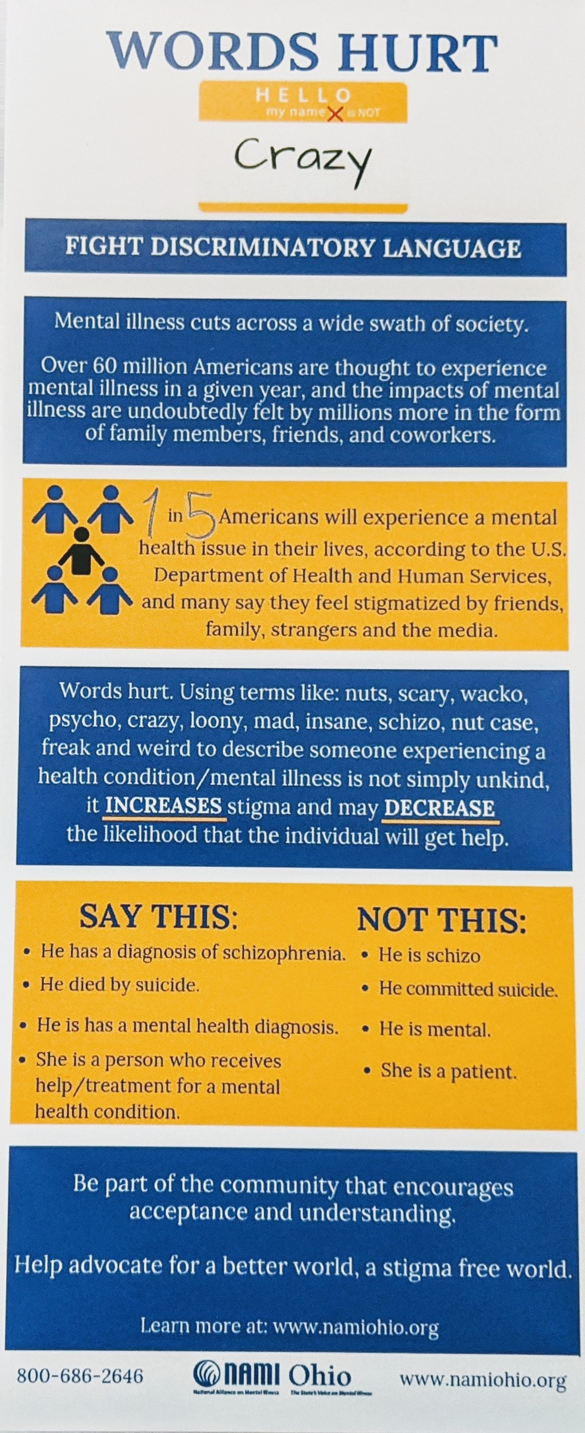Words Hurt - Infographic on fighting discriminatory language